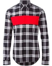 Paneled plaid shirt medium 321761