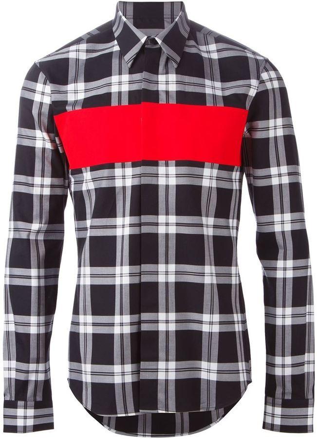 c95287f9c62d ... Givenchy Paneled Plaid Shirt