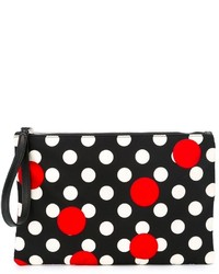 RED Valentino Polka Dot Print Clutch