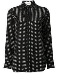 Polka dot print shirt medium 91127