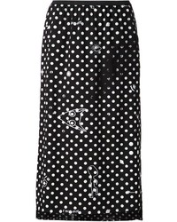 MM6 MAISON MARGIELA Polka Dot Midi Skirt