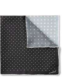 Lanvin Four Tone Polka Dot Silk Pocket Square