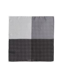 J.Z. Richards Polka Dot Pocket Square Black One Size