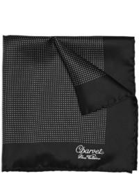 Black and White Polka Dot Silk Pocket Square