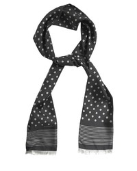 Polka dot print silk scarf medium 112219