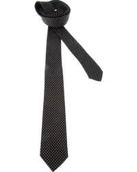 Black and White Polka Dot Silk Tie