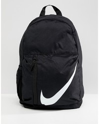 Nike Black Large Swoosh Logo Backpack