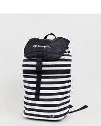 Champion Fold Top Backpack In Monochrome Stripes