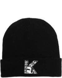 Crystal embellished knitted beanie medium 125340