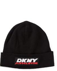 DKNY Front Logo Tag Beanie Hat