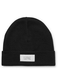 Givenchy Logo Appliqud Wool Blend Beanie
