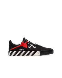 Off-White Black Vulcanised Low Top Sneakers