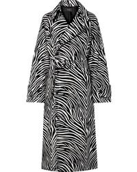 Black and White Print Coat