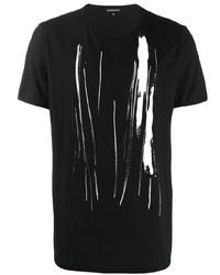 Ann Demeulemeester Abstract Art Print T Shirt