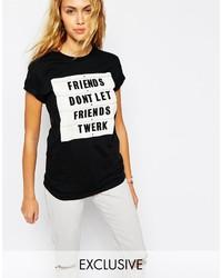 Adolescent Clothing Boyfriend T Shirt With Twerk Friends Print