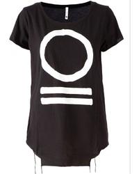 Blk Opm Asymmetrical Printed T Shirt