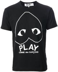 Comme des garons play heart print t shirt medium 277548