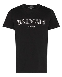 Balmain Logo Print T Shirt