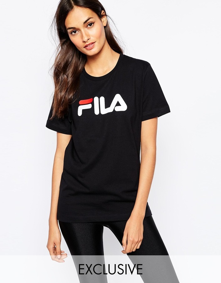8f079c316ce ... Fila Oversized Boyfriend T Shirt With Front Logo ...