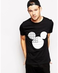 Asos T Shirt With Mickey Mouse Flag Print