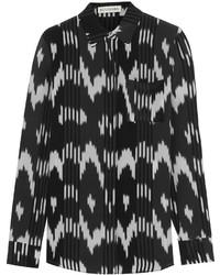 Black and White Print Dress Shirt