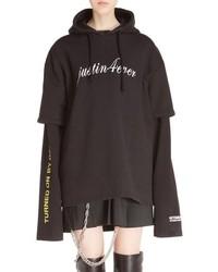 Justin4ever double sleeve graphic hoodie dress medium 840608