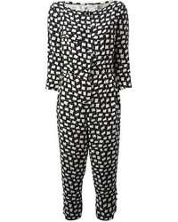 2198b5ea24 Black and White Print Jumpsuits for Women