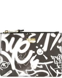Moschino Graffiti Print Clutch