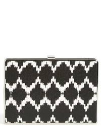 Ikat print leather minaudiere medium 322226