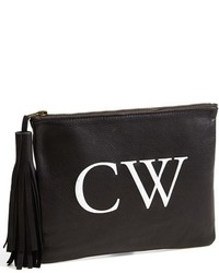 Tasseled monogram leather clutch medium 113203
