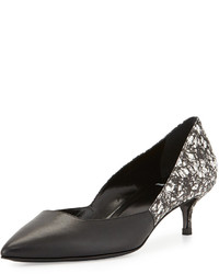Pierre Hardy Graphic Printed Leather Pump Blackwhite