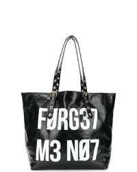 RED Valentino Red Slogan Oversized Tote