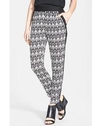 Pleat front print pants black white aztec size medium medium medium 83891