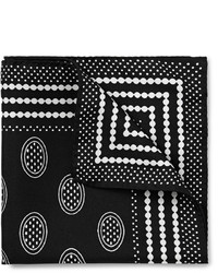 Black and White Print Pocket Square