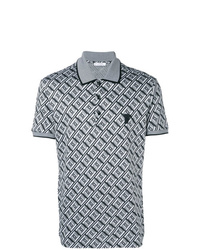 Versace Collection Geometric Print Polo Shirt