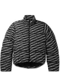 Balenciaga Quilted Logo Print Shell Jacket