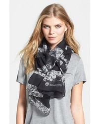 MICHAEL Michael Kors Michl Michl Kors Rock Crystal Wool Silk Scarf Black One Size One Size