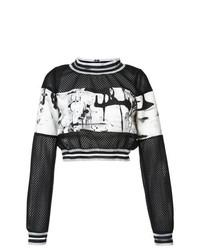 Patbo Brushstroke Cropped Sweatshirt