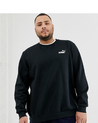 Puma Plus Essentials Sweatshirt With Small Logo In Black
