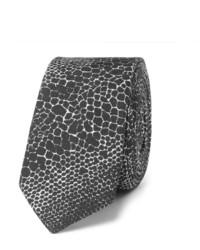 45cm Snakeskin Print Silk Tie
