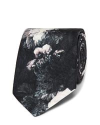Alexander McQueen 7cm Floral Print Silk Twill Tie