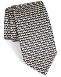 Salvatore Ferragamo Apple Print Silk Tie