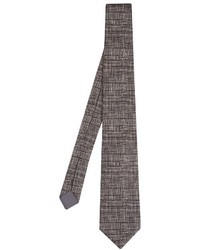 Bottega Veneta Weave Print Cotton And Silk Blend Tie