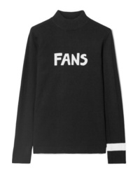 Bella Freud Fans Intarsia Wool Turtleneck Sweater