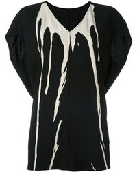 Rick Owens Drkshdw V Neck T Shirt