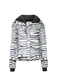 Kru Zebra Stripe Puffer Jacket