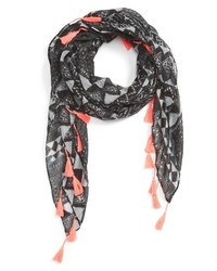 Girls The Accessory Collective Geo Tassel Scarf