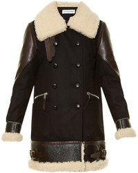 Altuzarra Ismir Shearling Trimmed Wool Blend Coat