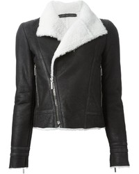 Anthony Vaccarello Shearling Biker Jacket