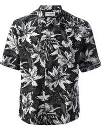 Black and White Short Sleeve Shirt